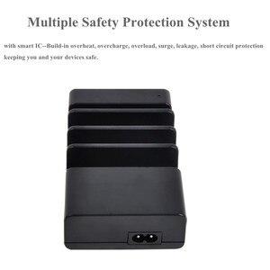 Image 4 - 멀티 4 포트 USB 충전 도크 범용 데스크탑 빠른 충전 주최자 여행 벽 충전기 스테이션 전원 어댑터 EU/US/UK/ Plug