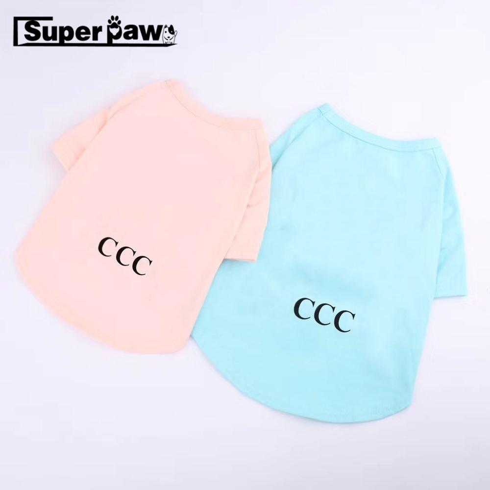 Fashion Summer T-shirt Vest Pet Clothes Dogs Clothing Dog Apparel Pug Teddy Schnauzer Chihuahua Corgi Costume Dropshipping GKC20