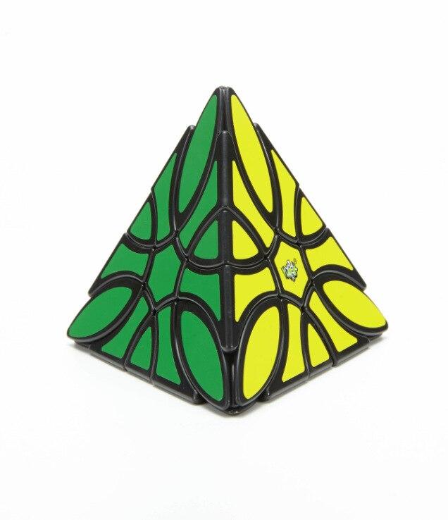 Lanlan Curvy Pyramin Clover Black Cubo Magico Educational Toy Drop Shipping