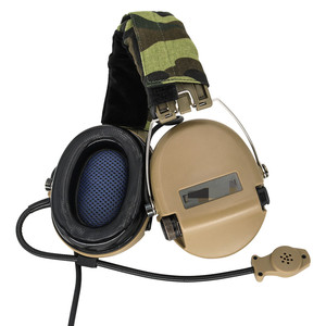 Image 4 - Tactical Softair Sordin słuchawki Pickup słuchawki z redukcją hałasu polowanie Airsoft ochrona słuchu słuchawki DE