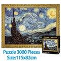 Quebra-cabeça 3000 peças adulto mundo famoso estrelado noite mais grosso quebra-cabeça pintura a óleo adulto challeng puzzle crianças brinquedos