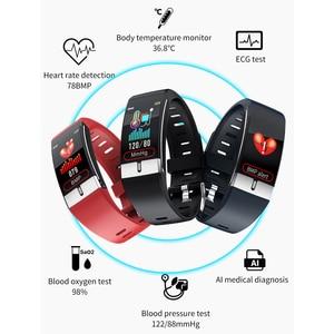 Image 5 - Temperatura del corpo del Monitor Intelligente Banda ECG PPG Wristband Heart Rate Orologio Intelligente di Pressione Sanguigna Misura di Forma Fisica di Sport Del Braccialetto
