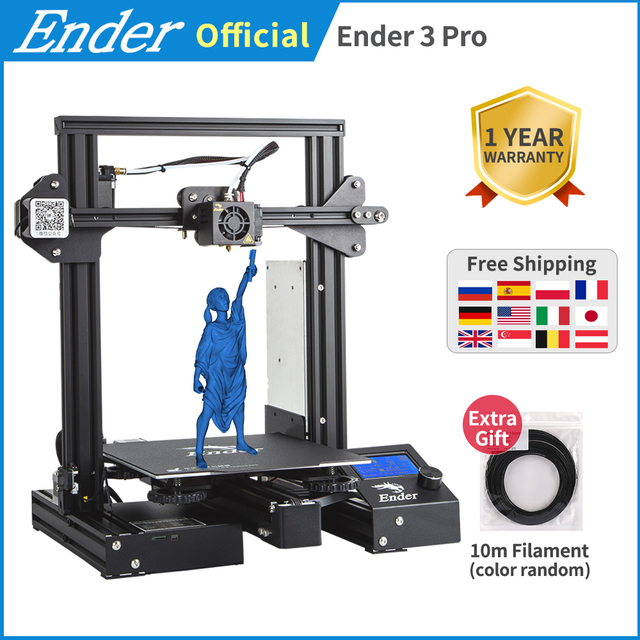 Ender 3 פרו DIY ערכת 3D מדפסת גדול הדפסת גודל Ender 3Pro מדפסת 3D המשך הדפסת כוח 220*220*250mm Creality 3D