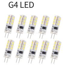 10 шт., 3 Вт, 5 Вт, 9 Вт G4 кукурузы лампы с регулируемой яркостью силиконовый светодиодный лампы 24 светодиодный s 48 Светодиодный s 3014 SMD энергосбер...