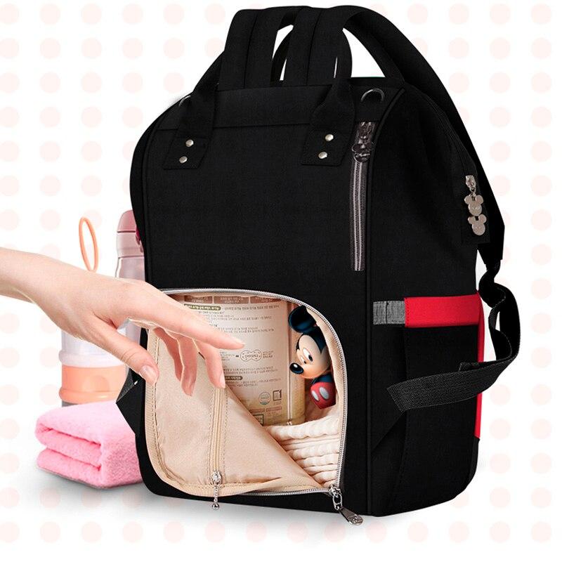 Disney Large Capacity Maternal Diaper Bag Baby Stroller Carriage Bags Mummy Nursing Care Organizer Backpack Travel Handbag