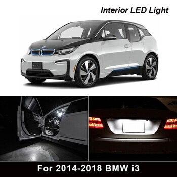 9Pcs Canbus Error Free Car LED Light Bulb Lamp Interior Kit For 2014-2018 BMW i3 Glove Box Dome Map Light 1