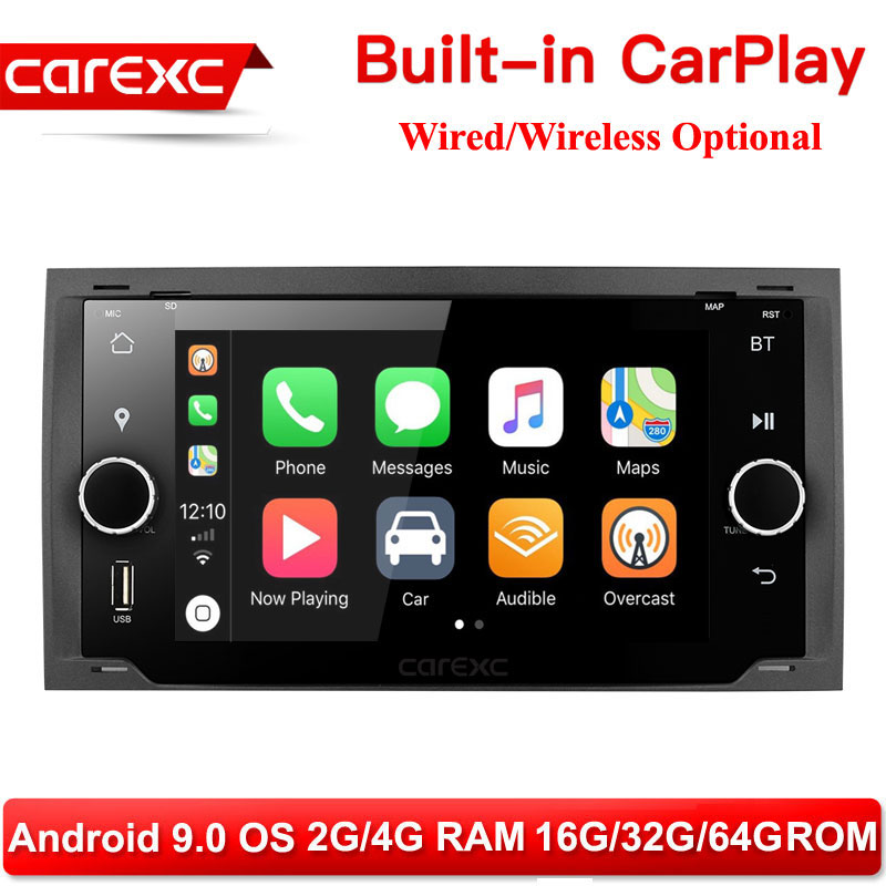 CarExc <font><b>Auto</b></font> <font><b>Radio</b></font> Muiltmedia Player With CarPlay For <font><b>Ford</b></font> <font><b>Focus</b></font> II C-Max S-Max Galaxy Fusion/ Kuga 2008-2012 Car Stereo System image