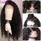 парики женские 360, парики из натуральных волос на кружевной основе, свободные волнистые волосы, предварительно выщипанные волосы, Детские в... - 2