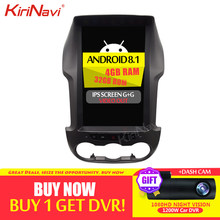 "KiriNavi Telsa estilo Vertical pantalla 12,1 ""2 Din Android 8,1 coche Radio para Ford Ranger Ford coche reproductor de DVD Multimedia 2012-2015 WIFI(China)"
