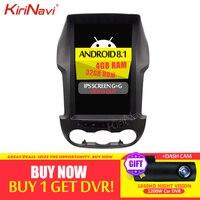KiriNavi Telsa Style Vertical Screen 12.1'' 2 Din Android 8.1 Car Radio For Ford Ranger Car Multimedia DVD Player 2012 2015 WIFI