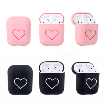 Love Heart Matte Shockproof Cover Skin For Apple AirPods Protective Case For Airpods Couples Hard PC Case Protector Cover image