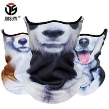 3D Animal Scarf Neck Warmer Tube Bicycle Winter Snowboard Balaclava Halloween Headband  Dog Scarves Bandana Windproof Men Women