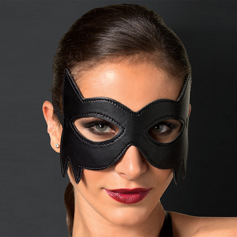 Black Domino Bat Style Eye Mask Masquerade Halloween Domino Costume Accessory