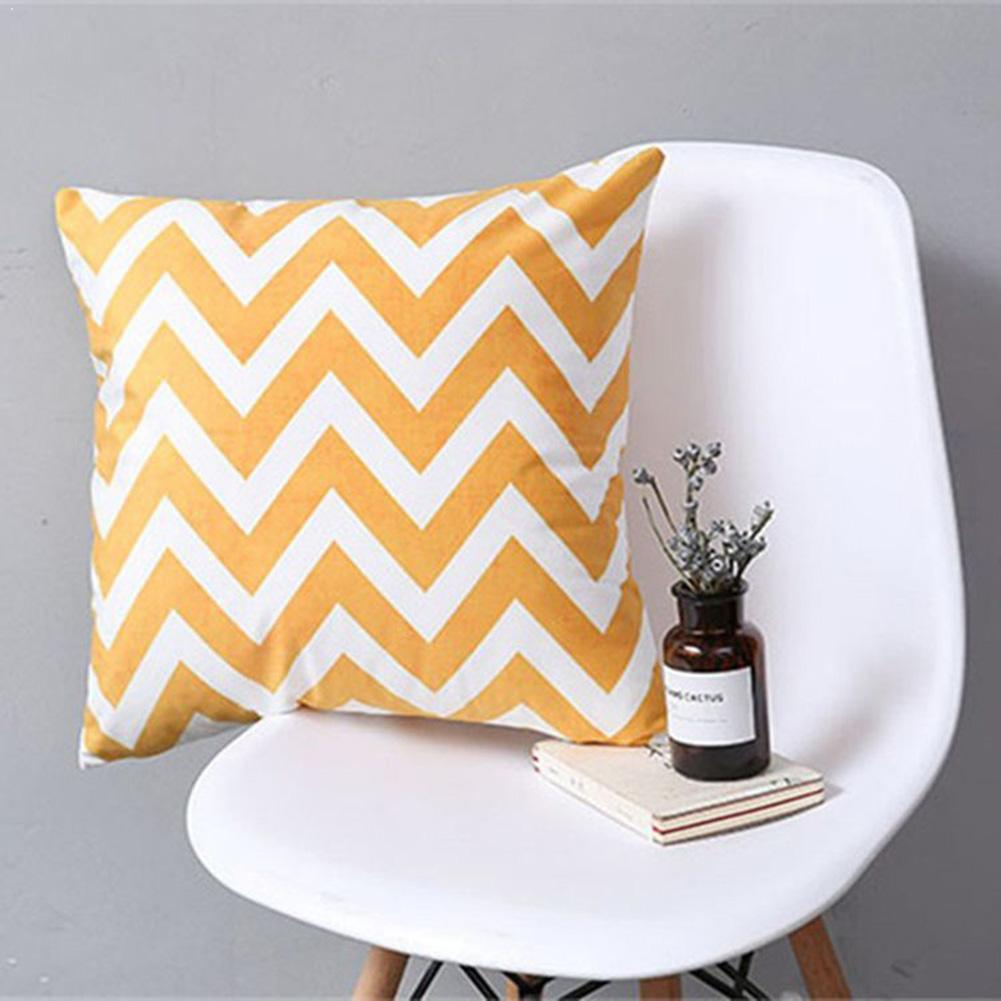 Geometric Polyester Pillow Case Striped Dotted Grid Geometric Case Polyester Pillowcase Triangular Pillow Cover Abstract Th T9I4
