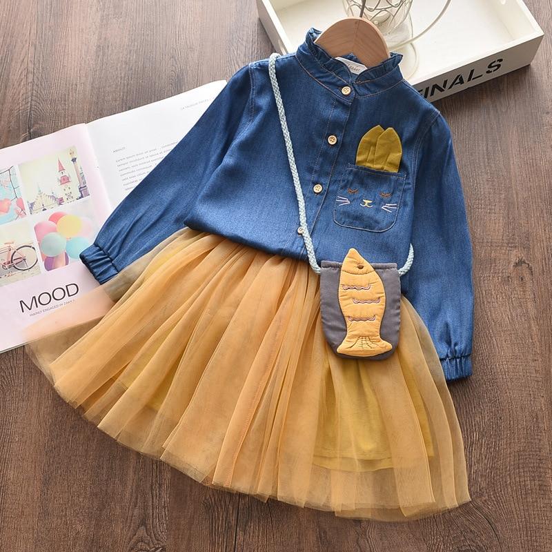 Girls Dress Autumn Princess Animal Pattern Rabbit  Dress For Girls Clothes Children Clothing Tutu Party Style Girls Dresses 2
