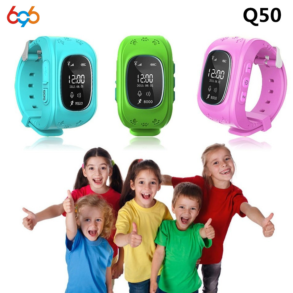 Children GPS <font><b>Kids</b></font> Smart Watch Wristwatch G36 <font><b>Q50</b></font> GSM GPRS GPS Locator Tracker Anti-Lost <font><b>Smartwatch</b></font> Child Guard for iOS Android image