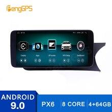 2 딘 스테레오 안드로이드 9.0 메르세데스 벤츠 C C204 C180 C200 C260 2011 2014 GPS 네비게이션 DVD 플레이어 라디오 멀티미디어 헤드 유닛