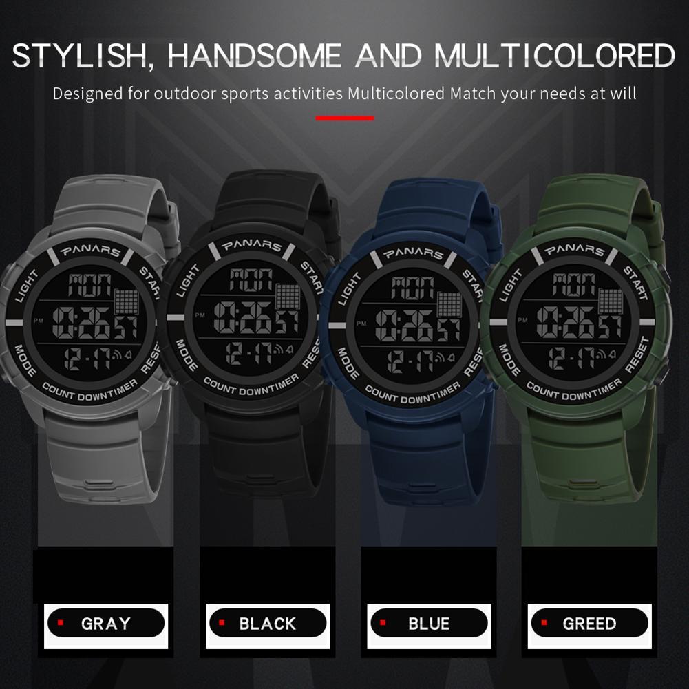 Multifunctional Backlight Waterproof Digital Reloj Men Wrist Watch Outdoor Supplies Sport Watch Digital Watch Mas-culino Fashion