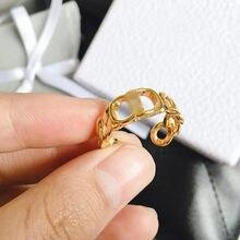2021 nova tendência punk cd carta anéis retro personalidade moda aberturas ajustáveis anel para homens feminino festa jóias acessórios