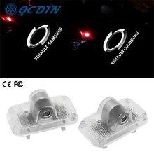 Qcdin для renault samsung светодиодные лампы дверей автомобиля
