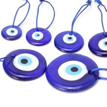 "Large Blue Evil Eye Mystic Protection Glass Luck Charm Amulet Turkish 1""-2.5"" H37C(China)"
