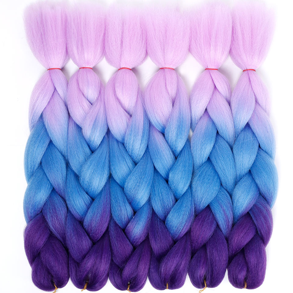 Fashion Women's 24inch Hook Braids Braids 100g / Pc Ombre Jumbo Braids Synthetic Braiding Hair BUQI