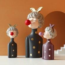 Figurines modernes en résine pour jeune fille, décoration de maison, cadeau féerique, décoration de table, mariage, anniversaire