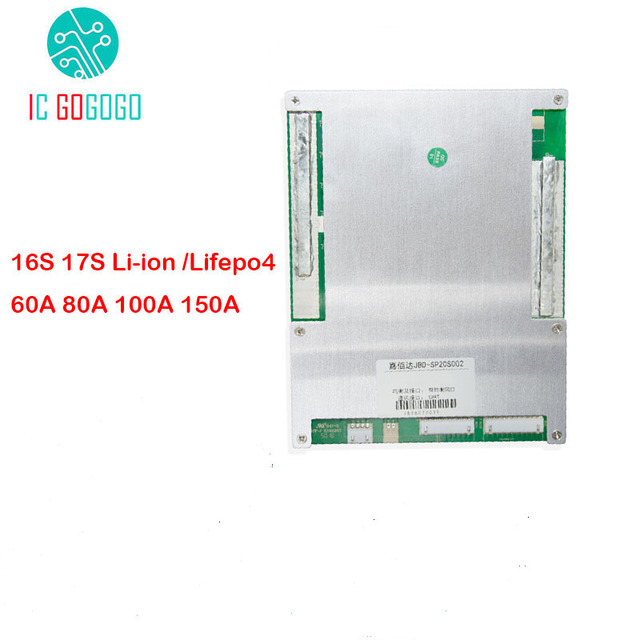 16S 17S Li ion Lifepo4 ion Lithium Battery Protection Board PC 60A 80A 100A 150A BMS Packs Balance 60V 48V