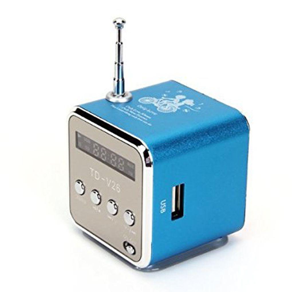 Portable Mini Digital Display Screen Speaker USB Flash Drive Micro SD/TF Card