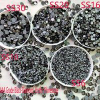 AAA Grade Black Diamond SS6 SS30 ALL size Hight quality Hotfix rhinestone Crystals for Clothes Needlework phone case decoration