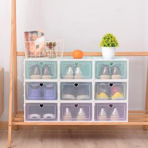 Foldable Clear Shoes Box Thickened Drawer Case Plastic Shoe Boxes Stackable Box Shoe Organizer Shoebox storage Shoe rack 2020