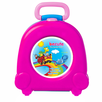 Cute Large Capacity With Handle Urinal Kids Travel Potty Car Portable Outdoor PP Toilet Seat Toddler Training
