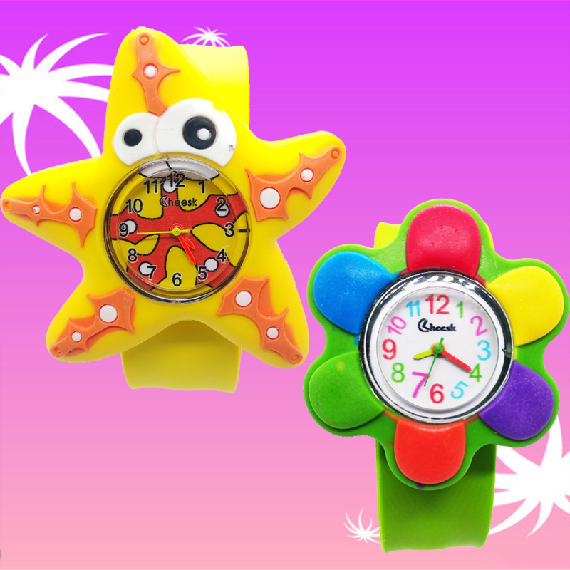 Ocean Starfish Kids Watches For Girls Baby Gift Cartoon Flower Watch For Children Boys Toys Clock Child Quartz Wristwatches #D72