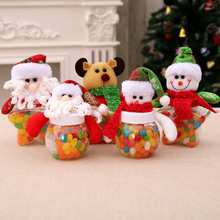 Christmas decorations boxes old snowman candy cans dolls (no sugar)  storage box Navidad