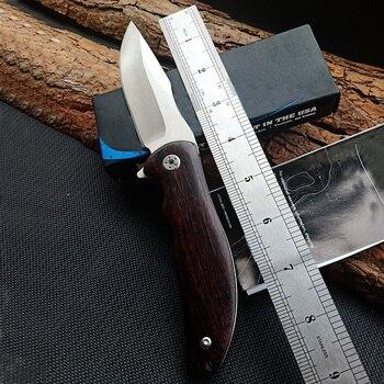 Hot 0606 Tactical Folding knife Log handle Outdoor Camping Survival Hunting Knife portable Pocket Compact Knives EDC Hand tools 6