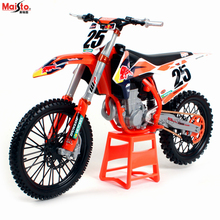 Maisto 1:6 Red Bull KTM 450 SX-F NO25 Offroad Rally Motorcycle Model Gift Collection