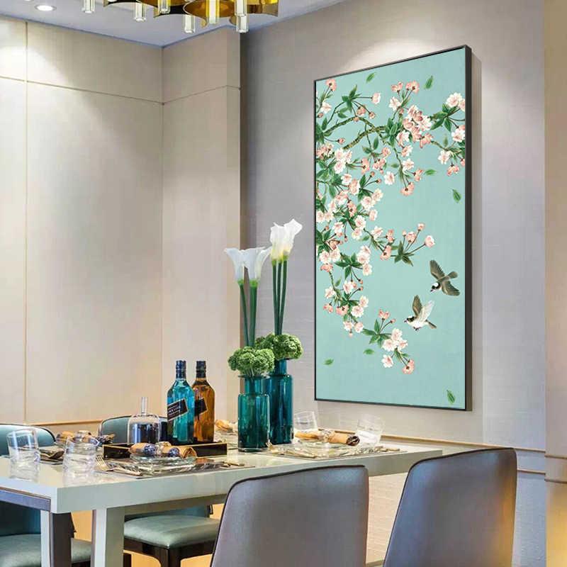 الحديثة زهرة قماش اللوحة المشارك و يطبع على قماش جدار الصور المنزل كوادروس Decorartion الفن لغرفة المعيشة غير المؤطرة
