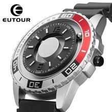 EUTOUR-reloj de cuarzo deportivo para hombre, cronógrafo multifunción de metal magnético, innovador, con correa simple