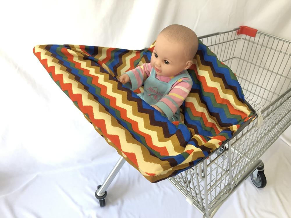 Младенческий супермаркет корзина для покупок, чехол для детского сиденья, анти-грязный чехол, детское сиденье для путешествий, подушка, не грязный, портативный - Цвет: Colorful wave