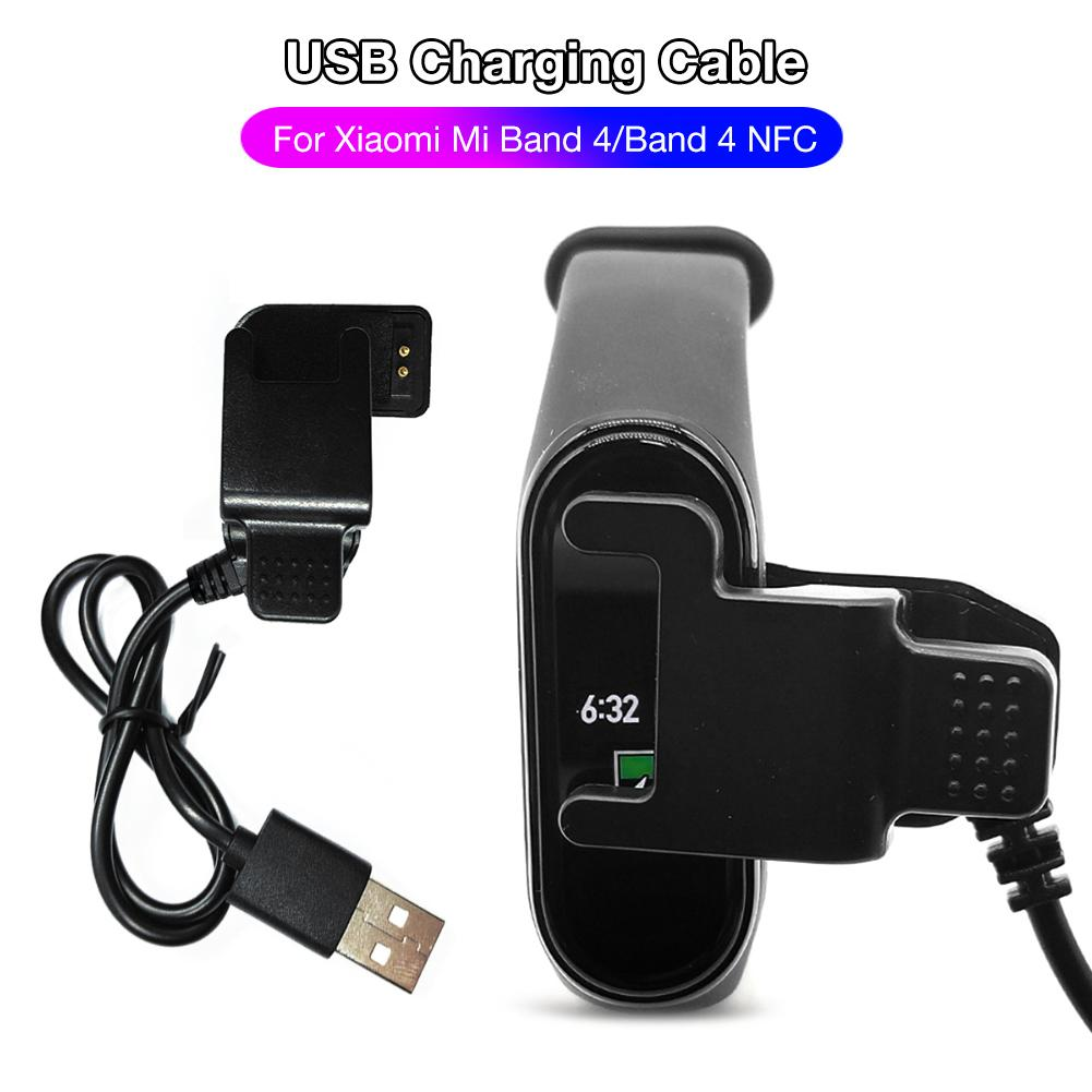 USB Charging Dock Cable Cord Charger Adapter Replacement For Xiaomi Mi Band 4 Smart Wristband Accessories For Mi Band 4 NFC