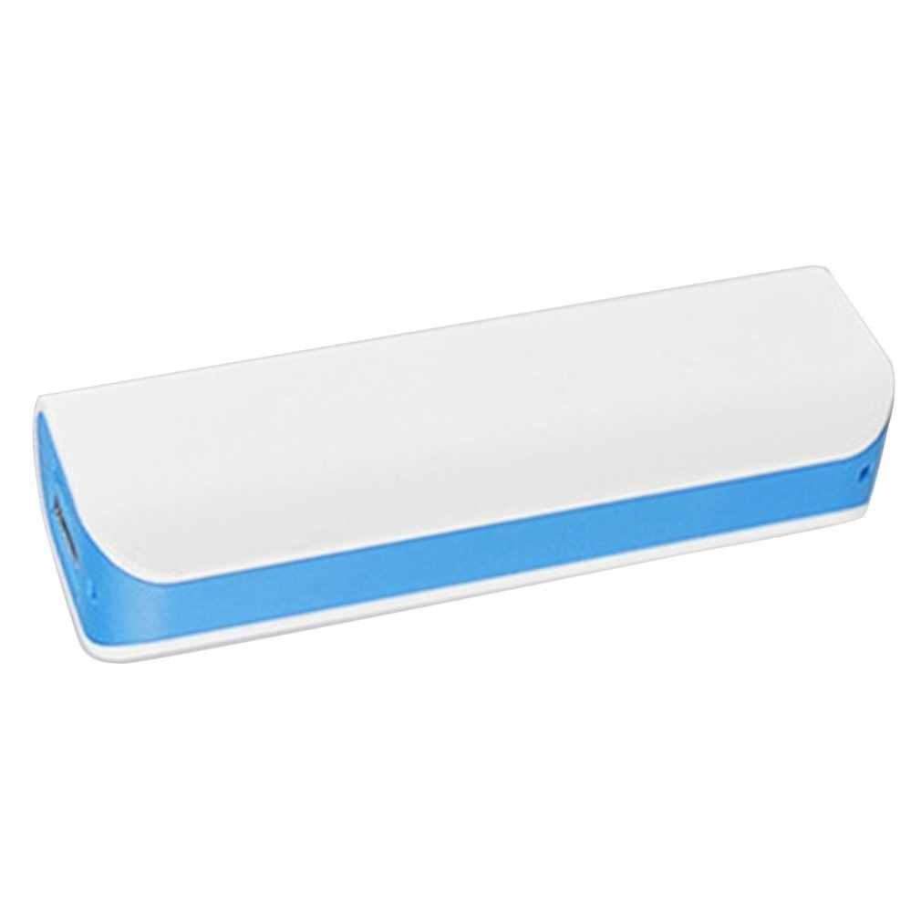 Blue Power Bank Shell Gratis Lassen Usb-poorten Power Bank Pcb Charger Case Diy Kits Aangedreven Door 2600 Mah 18650 batterij