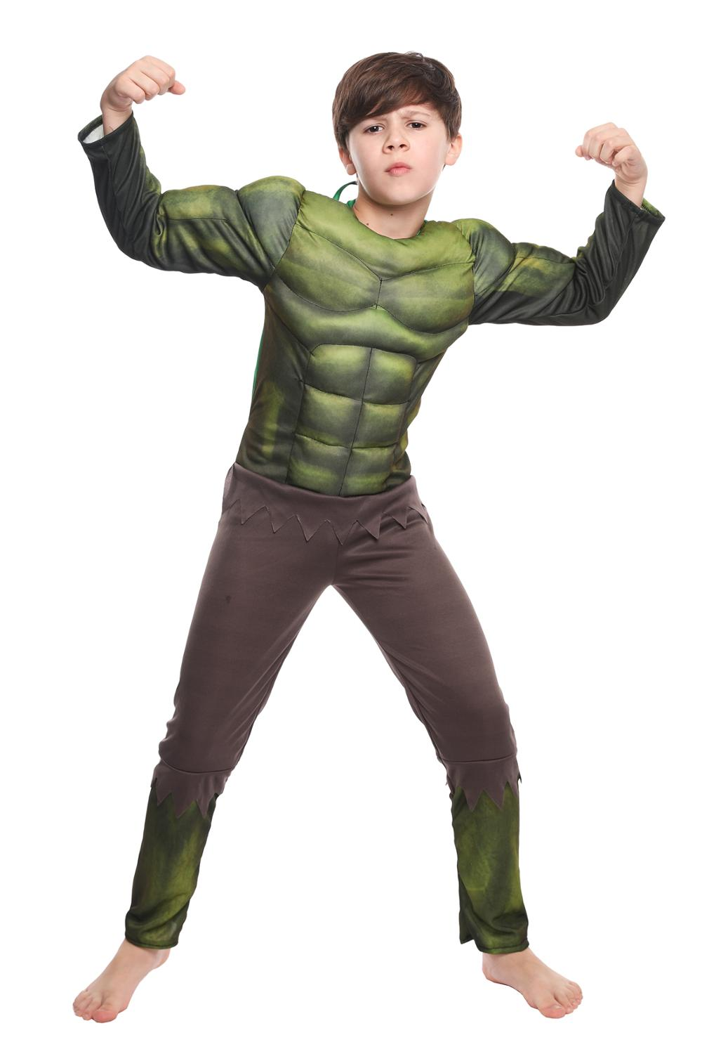 Image 2 - Heroic Hulk Onesies Birthday Party Carnival Clothes Very Cool Gift Avengers Halloween Cosplay Costume For KidsBoys Costumes   -