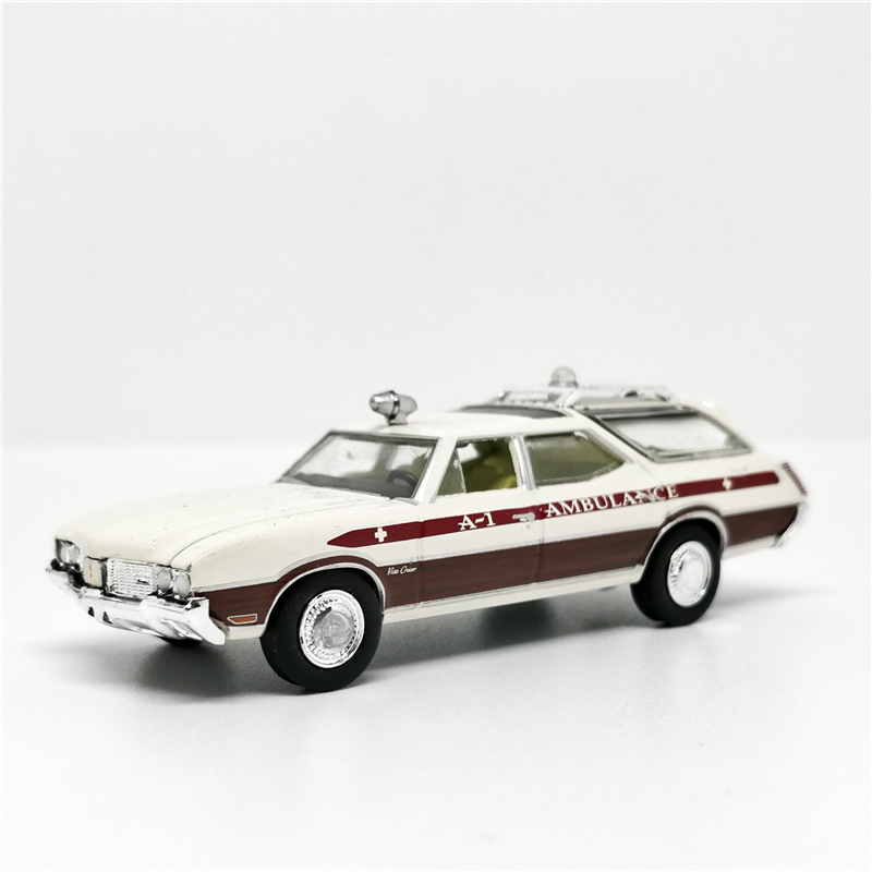 Greenlight 1:64 1970 Oldsmobile Vista Cruiser Waco Texas A-1 Ambulance No Box