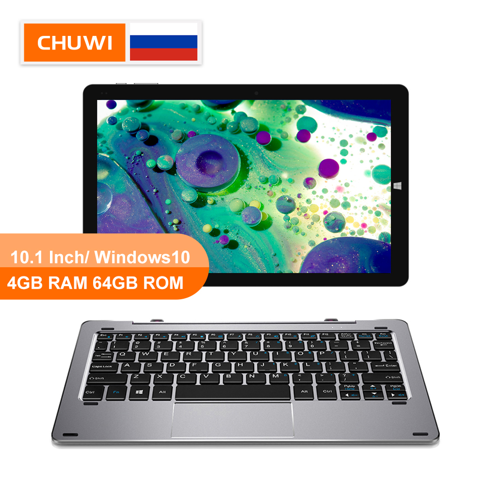 CHUWI Original Hi10 Air 10.1inch Windows10 <font><b>tablet</b></font> Intel Cherry Trail-T3 Z8350 Quad Core 4GB RAM 64GB ROM Type-C 2 in 1 <font><b>Tablet</b></font> image