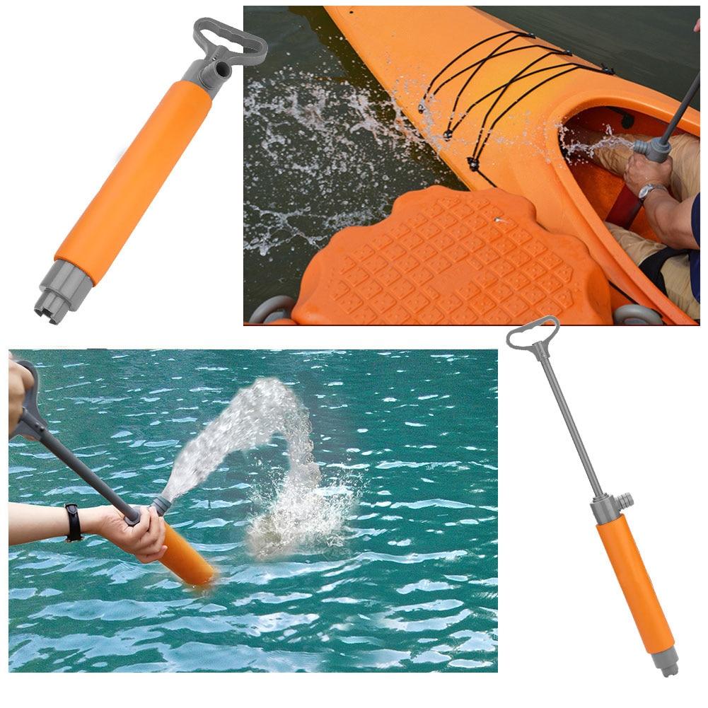 Kayak Pump Red 46cm Kayak Hand Pump Floating Hand Bilge Pump For Kayak Rescue Watesport Tool Floating Hand Pump Kayak Accessory