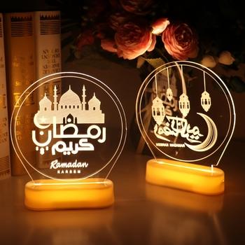 EID ozdoby światła EID Mubarak dekoracja na Ramadan dla domu Al Adha EID muzułmanin wystrój Ramadan Kareem islamski muzułmanin Party Decor tanie i dobre opinie PATIMATE CN (pochodzenie) Star W6124 Z tworzywa sztucznego Id al-Fitr EID Mubarak Decoration Muslim EID Party EID Mubarak Kareem Party