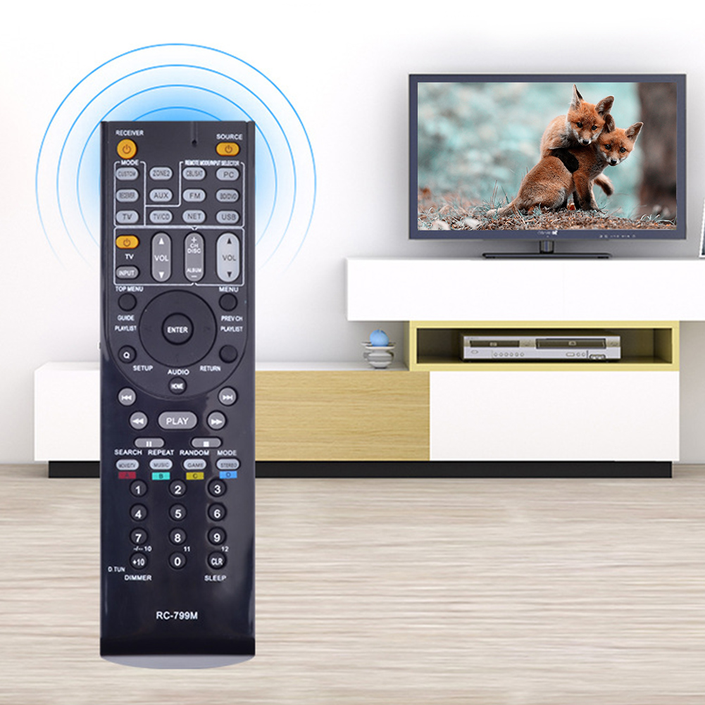 RC-799M Remote Control Colorful Button Home Hotel Compact Audio Video Receive Easy Operate Replacement Transmitter For ONKYO
