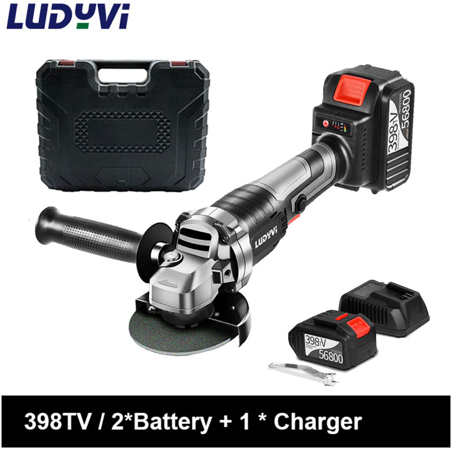 528TV Electric Brushless Angle Grinder Lithuim Battery Portable Cordless Angle Grinder