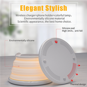 Image 5 - Essager Qi Wireless Charger สำหรับ iPhone 11 Pro XS MAX Samsung Fast Wireless CHARGING Pad Dock Station Light Night Light ผู้ถือ