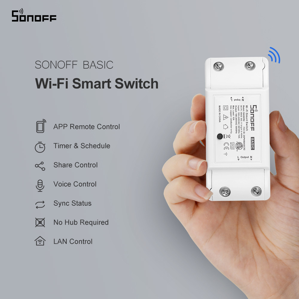 Light-Switch Module Remote-Control-Switch Itead Wifi Sonoff Basic DIY Mini Smart-Home